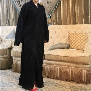 Velvet lace Abaya for sale
